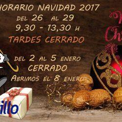 Horario de Navidad 2017